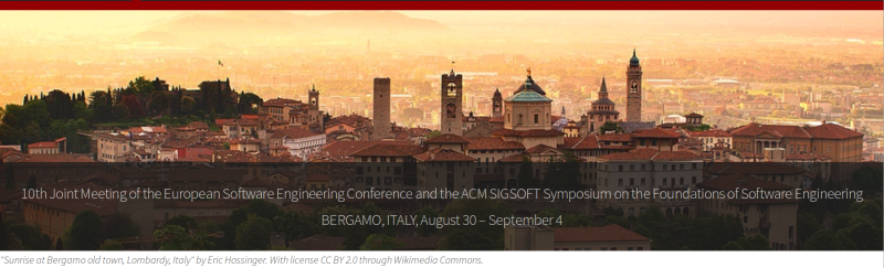 ESEC/FSE'15 - August 30 – September 4, 2015, Bergamo, Italy