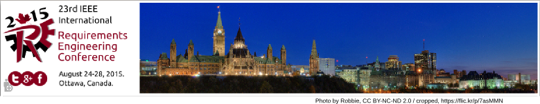RE '15 - August 24-28, 2015, Ottawa, ON, Canada